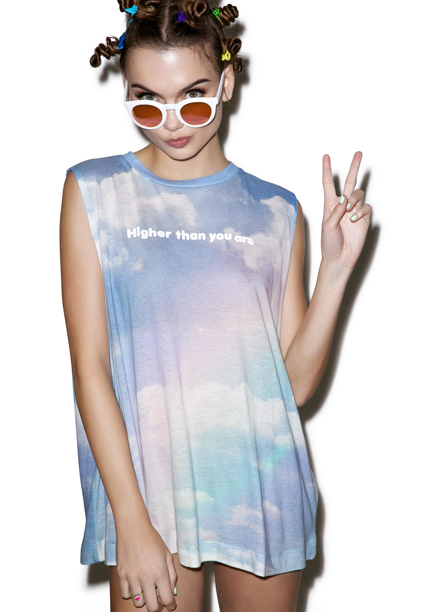 Wildfox Couture Higher Than You Are Building Tank