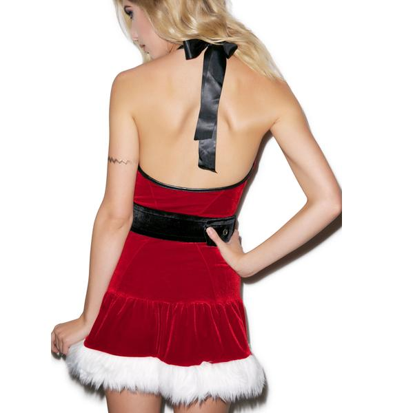 J Valentine Naughty Or Nice Mini Dress