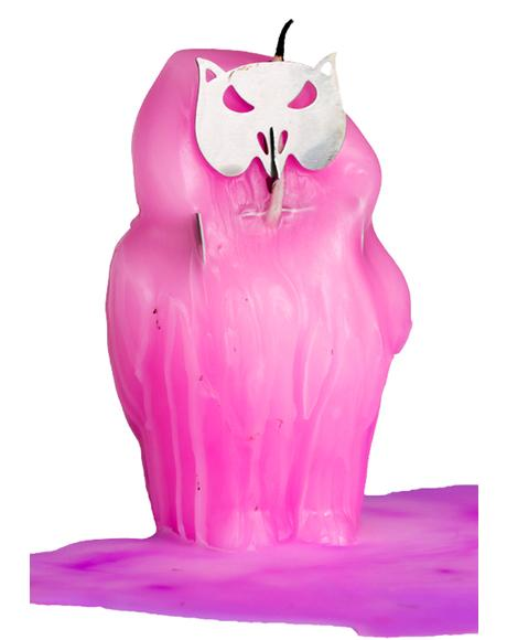Skeleton Owl Candle