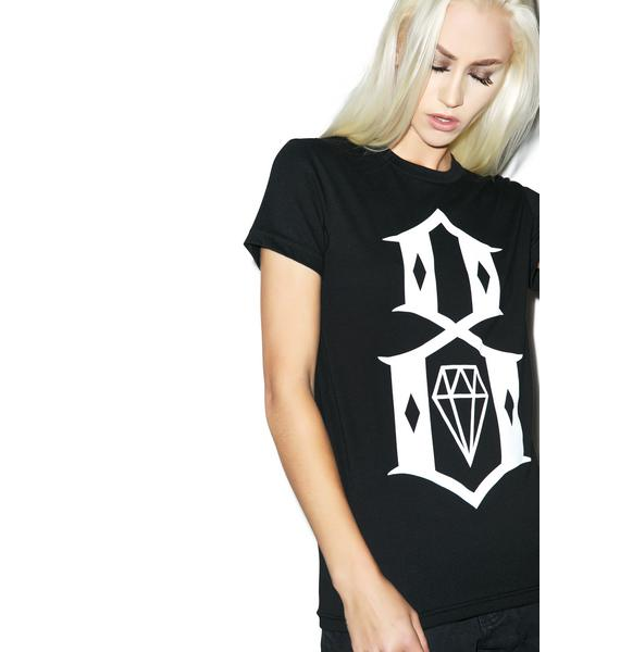 Rebel8 Black Logo Tee