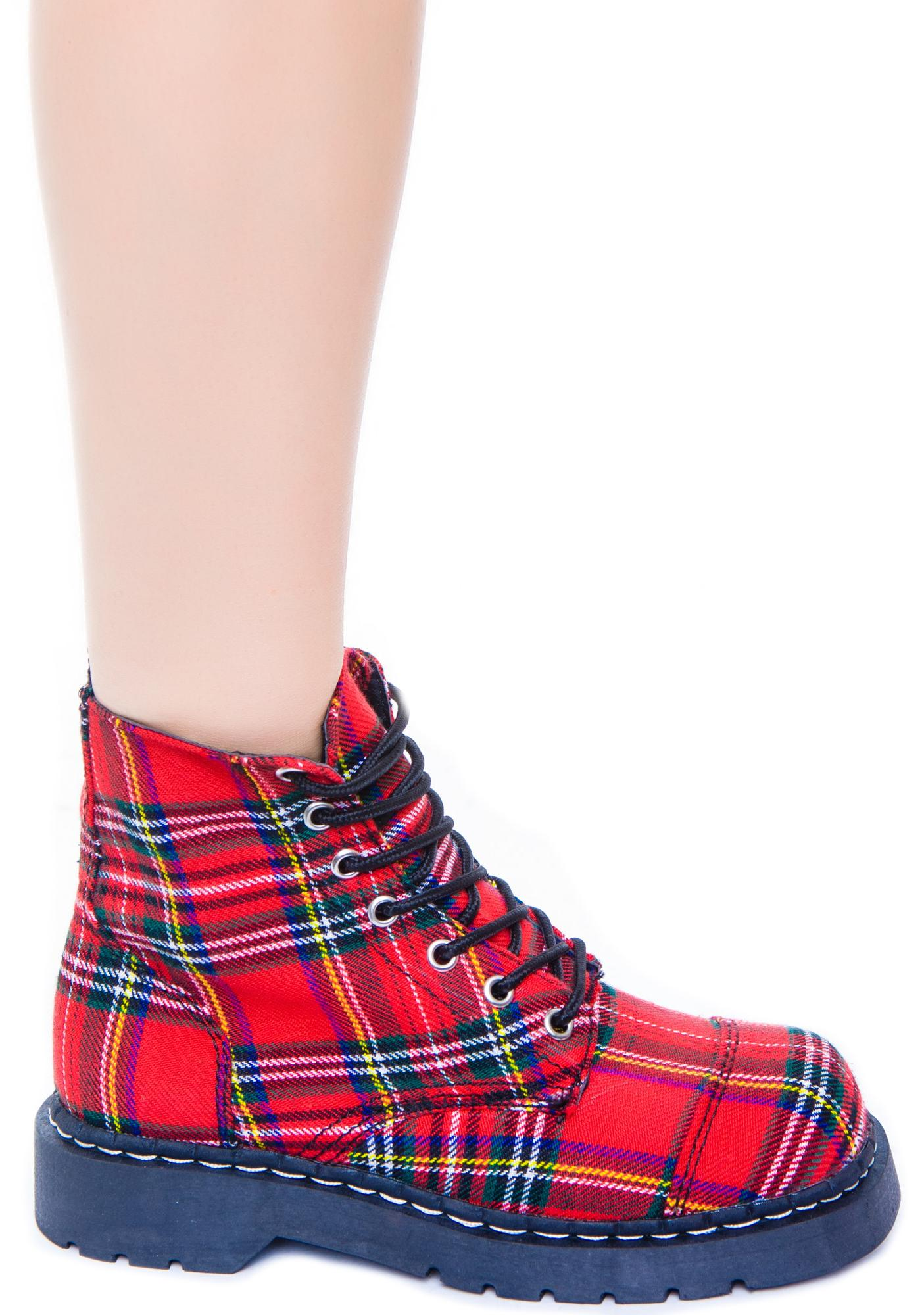 T.U.K. Plaid 7 Eye Boot