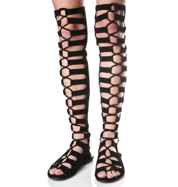 Resist Lace-Up Sandals
