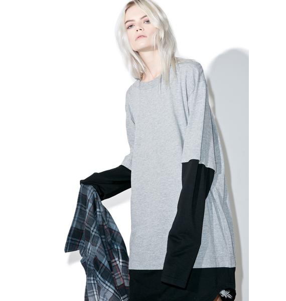 Cheap Monday Solid Fake Long Sleeve Tee