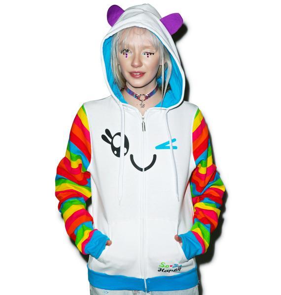 Iron Fist x So So Happy Wink Rainbow Sleeve Hoodie