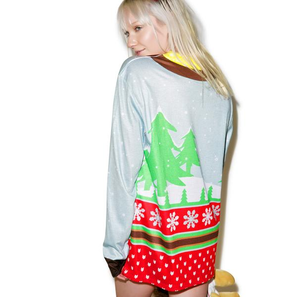 Santa On Break Sweater Tee