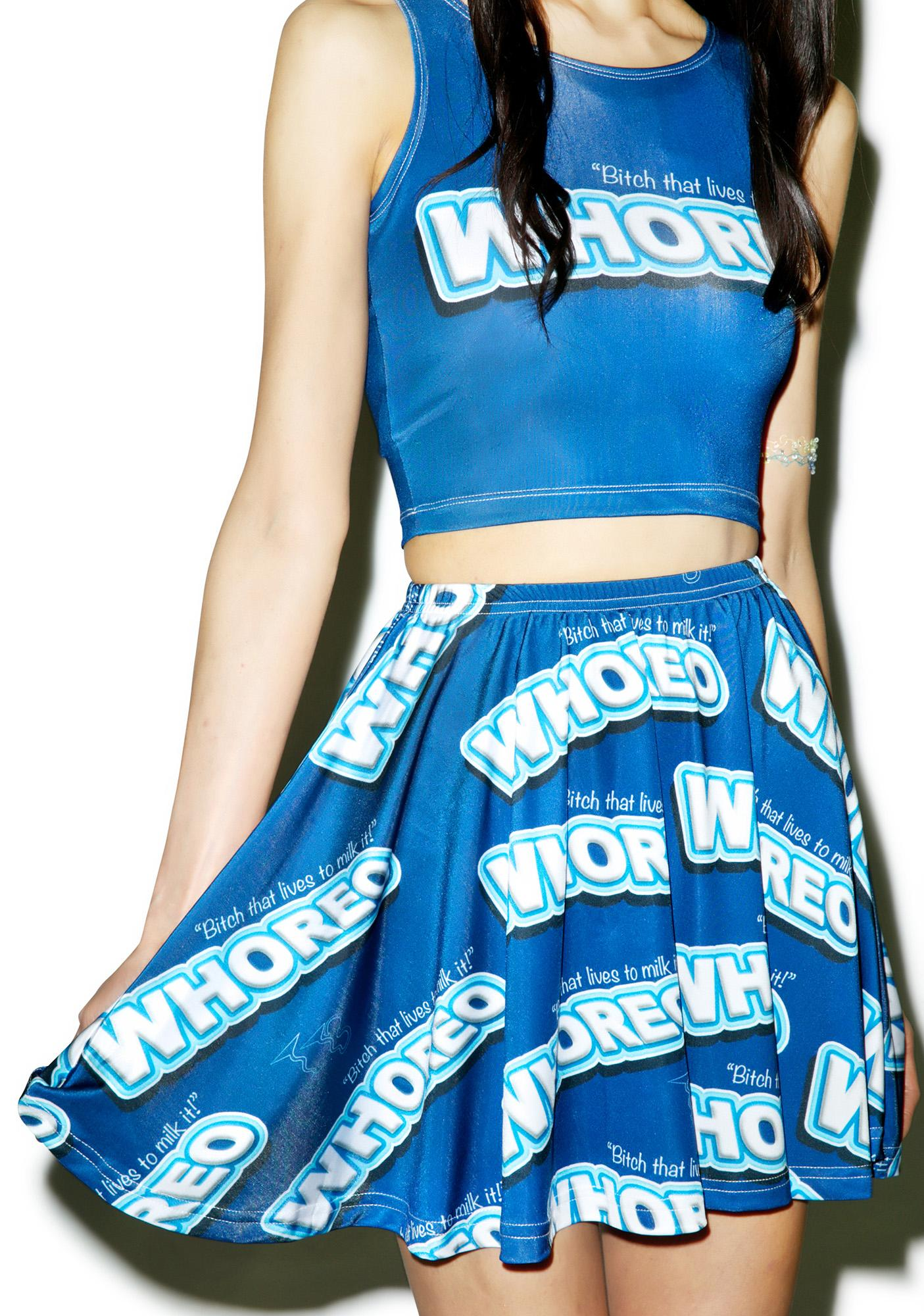 Twisted Bitches Whoreo Skater Skirt