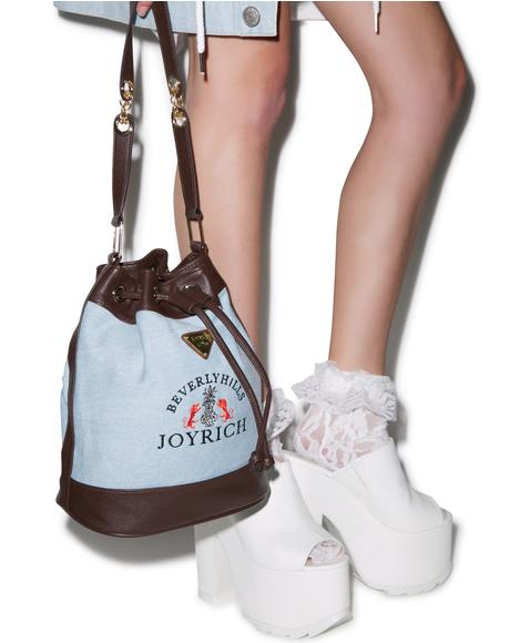 High Beverly Hills Denim Bucket Bag