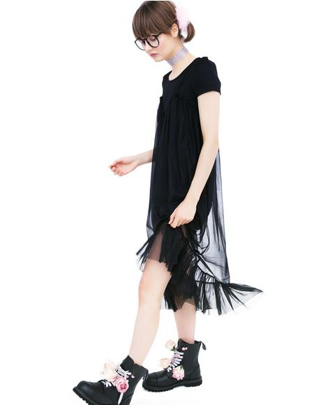 Tulle Camisole Dress