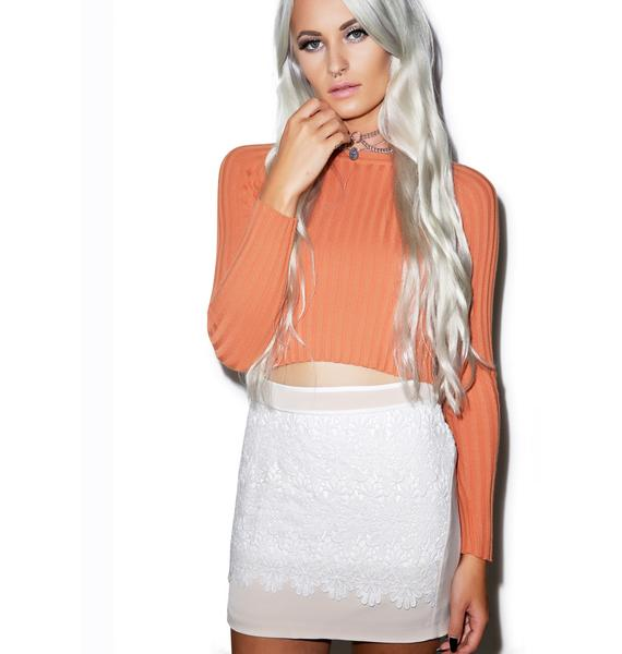 Come Into Bloom Lace Skirt