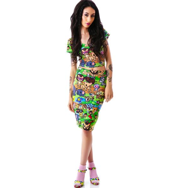 Japan L.A. Japan L.A. x Tokidoki Savannah Column Skirt