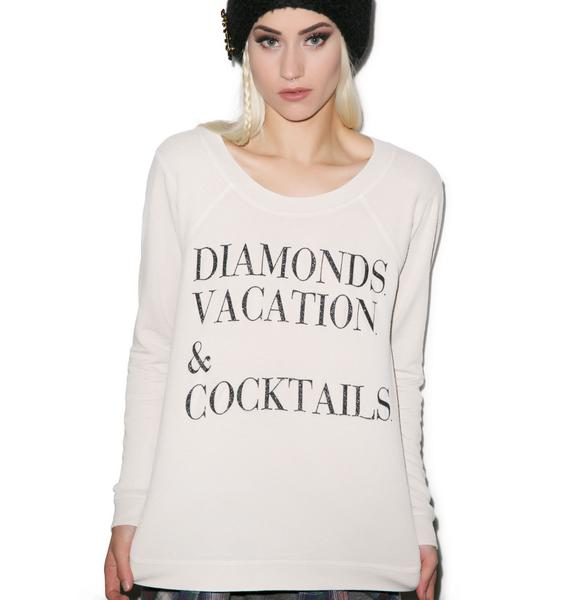 Chaser Diamonds, Vacation and Cocktails Top
