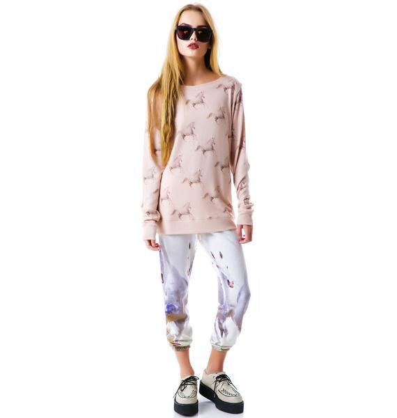 All Things Fabulous Running Unicorns Cozy Sweatshirt