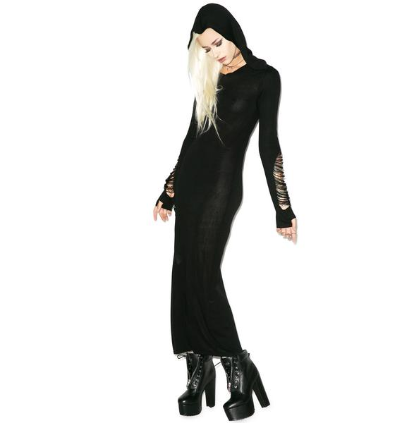 Killstar Nu War Knit Maxi Dress