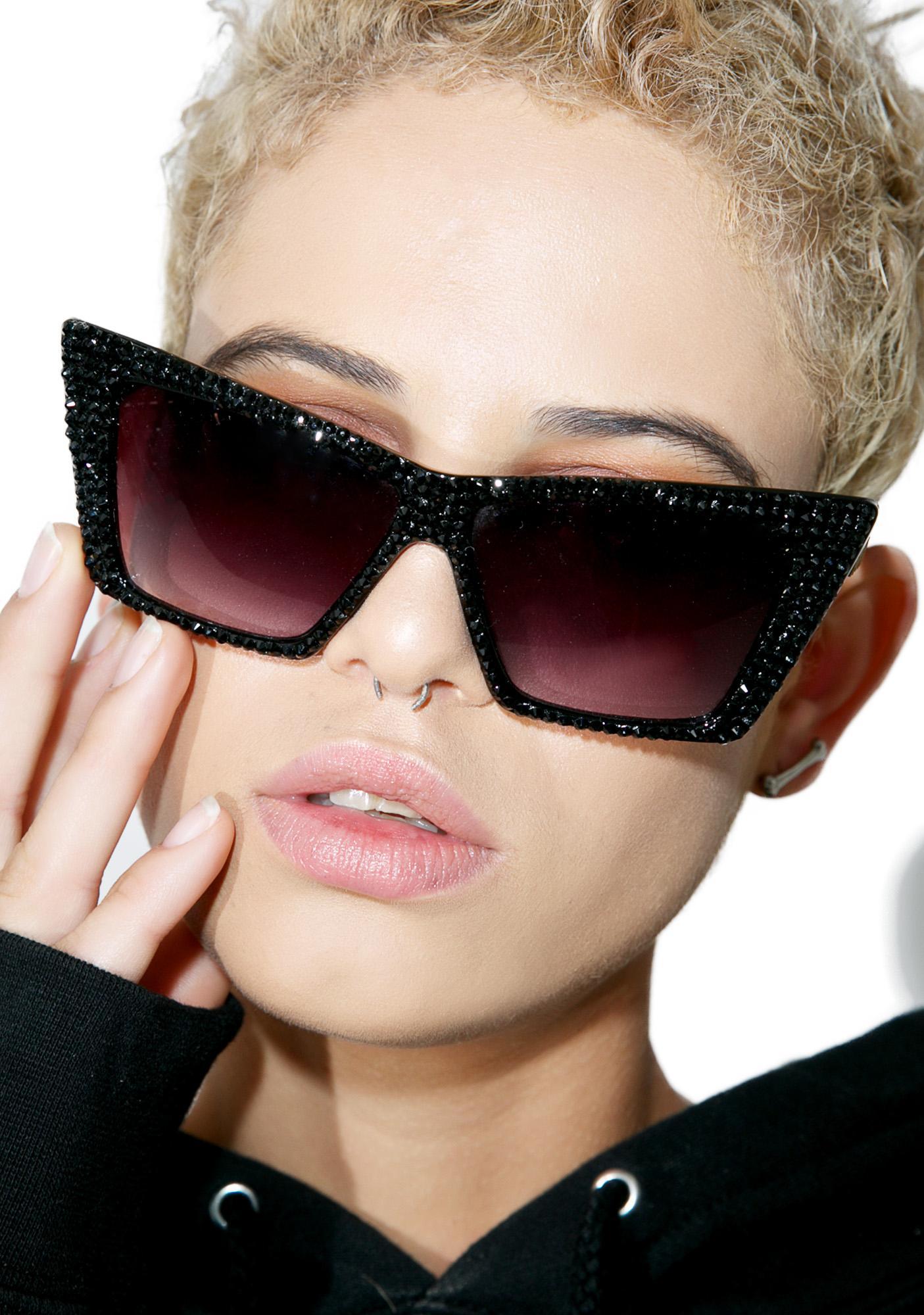Material Memorie Swarovski Cat Eye Sunglasses