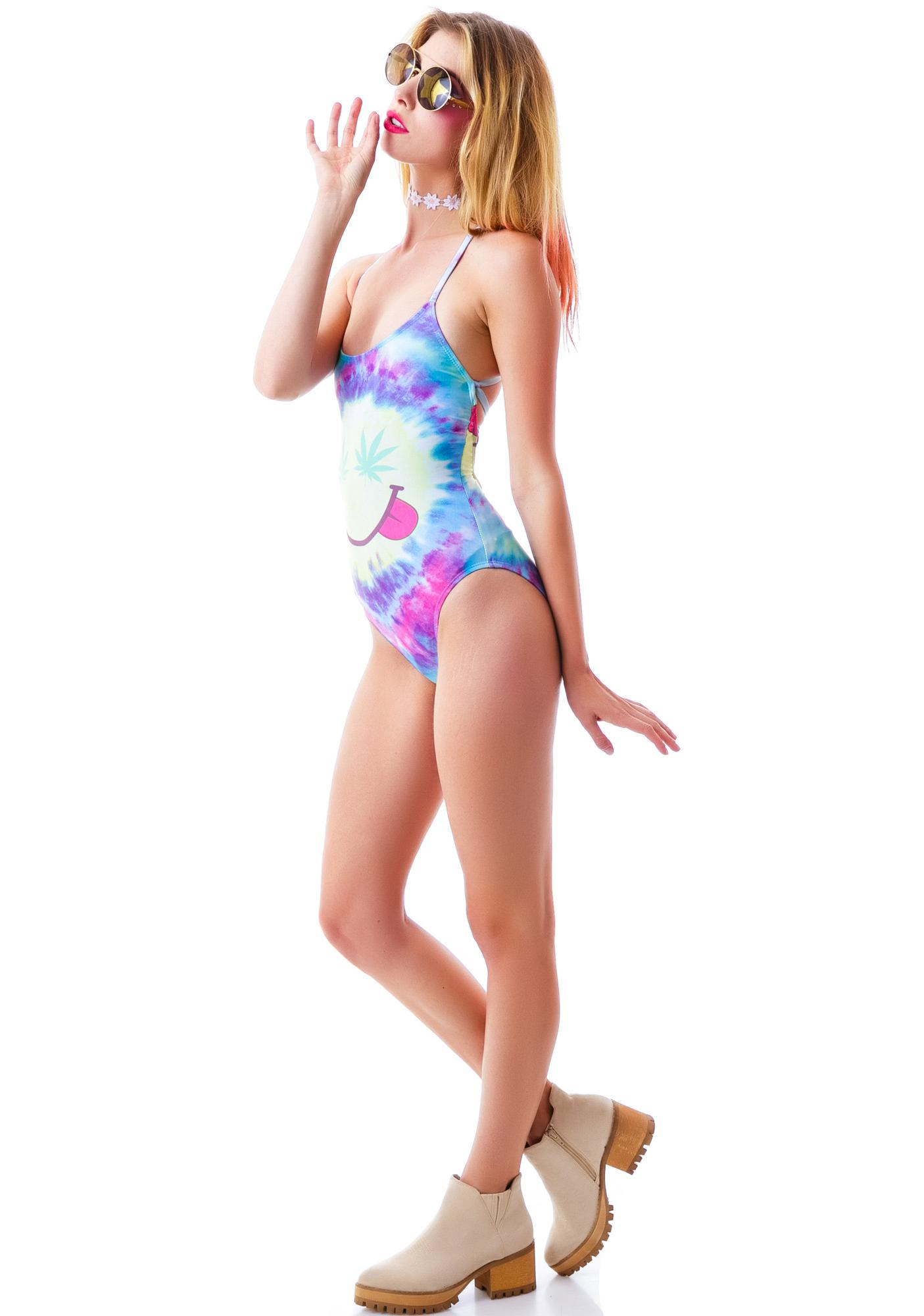 Wildfox Couture Mr. Nice Guy Wrecked One Piece