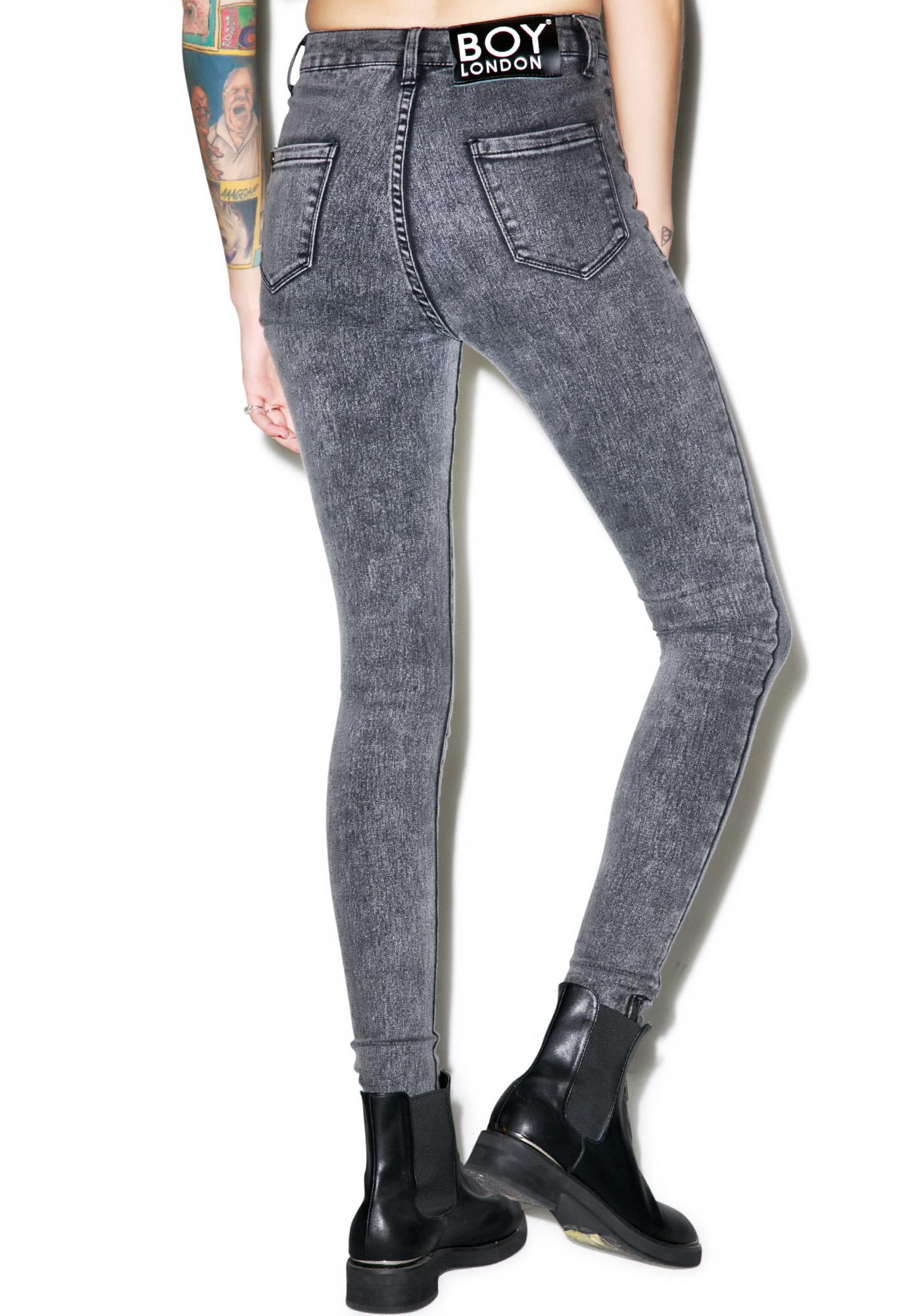 BOY London Boy High Waist Stoned Skinny Jeans | Dolls Kill
