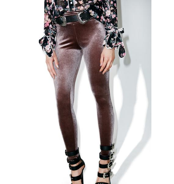 Rowdy Killjoy Velvet Pull-On Pants