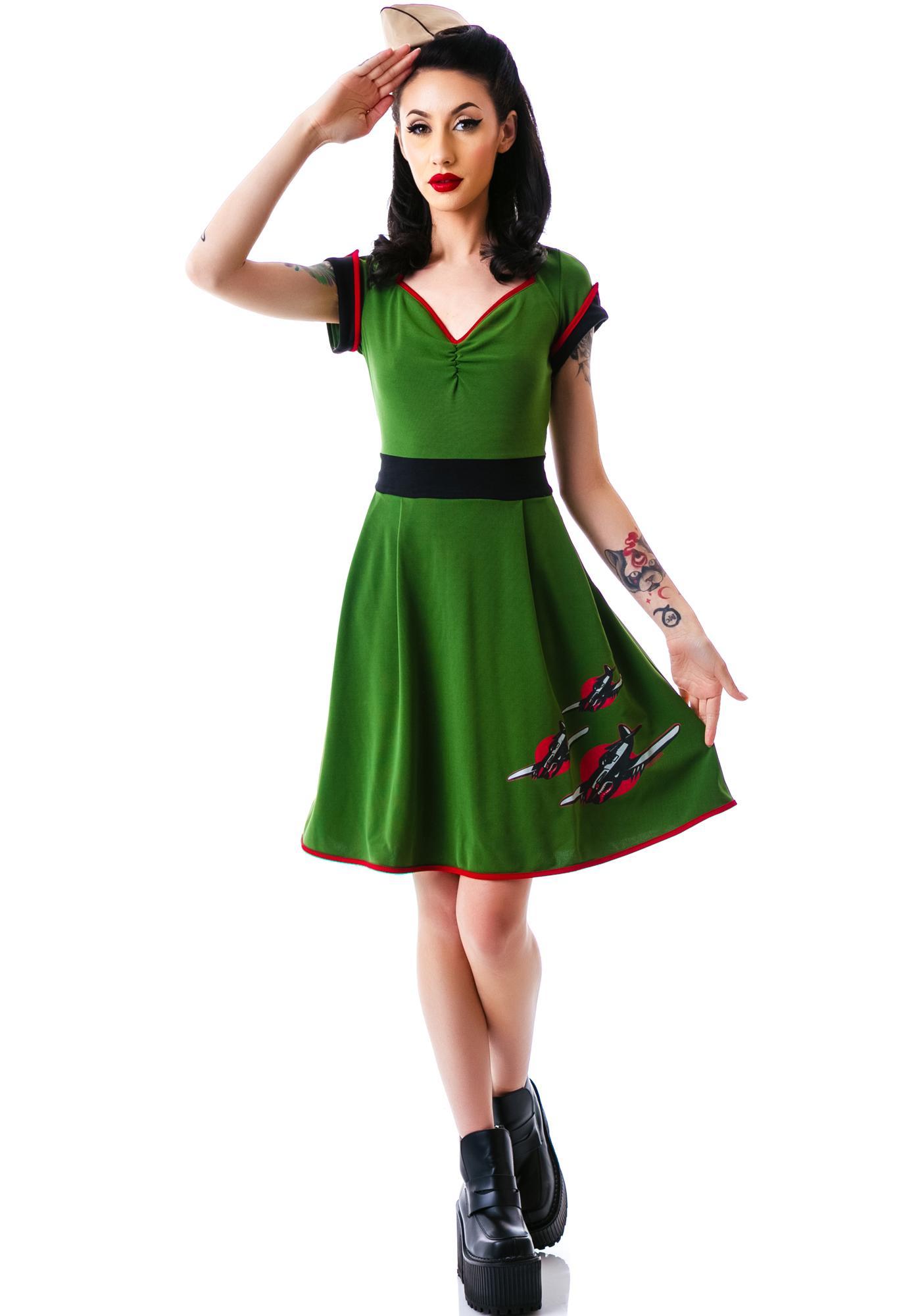 Sourpuss Clothing Keep Em Flying Dress