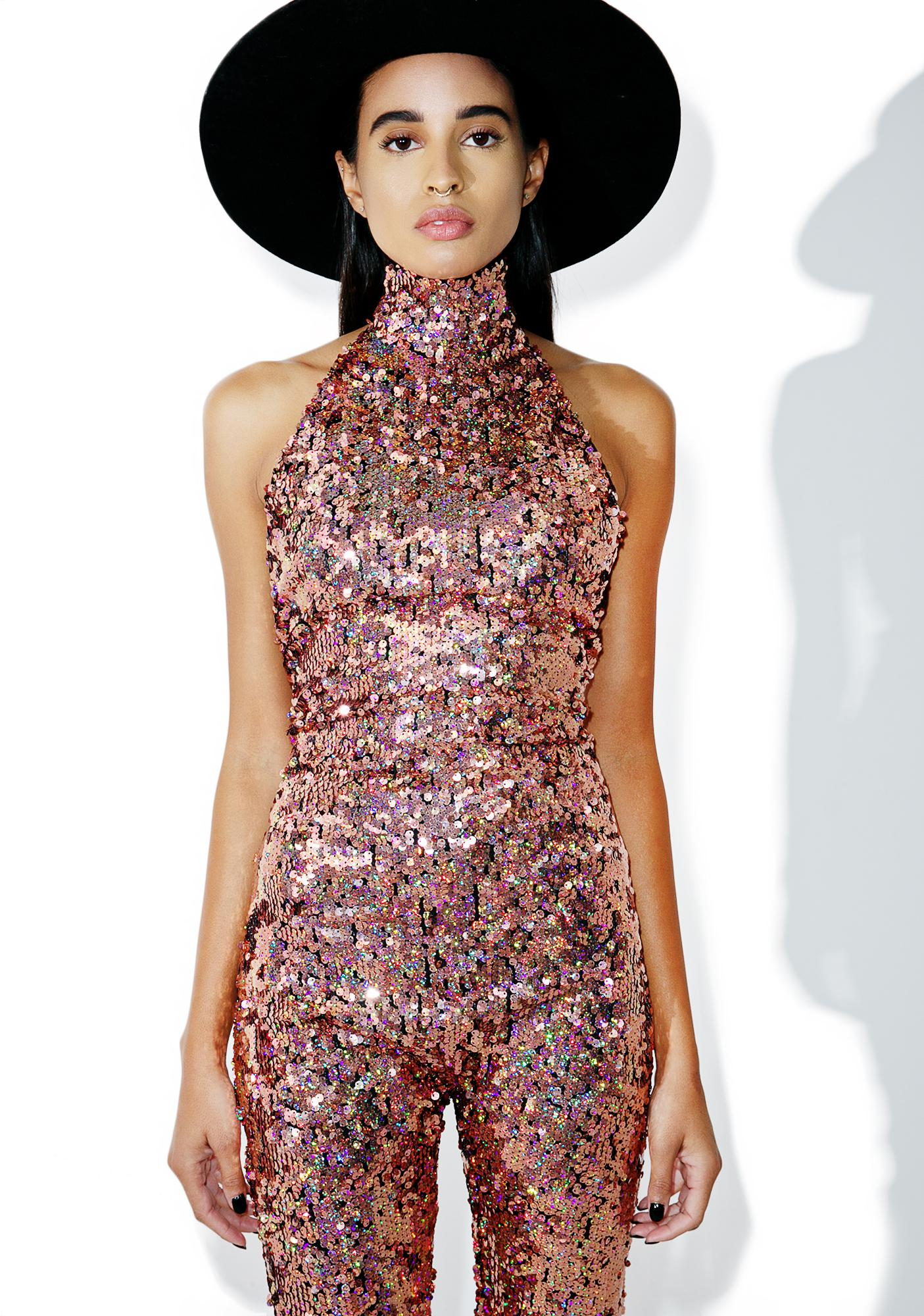 Jaded London Magik City Sequin Jumpsuit