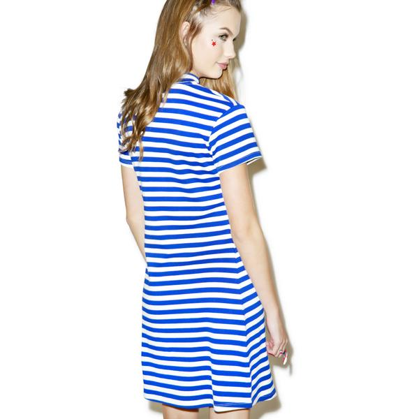 Lazy Oaf Heart Stripe Dress