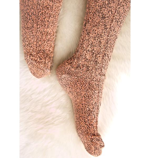 Tangelo Thigh High Socks
