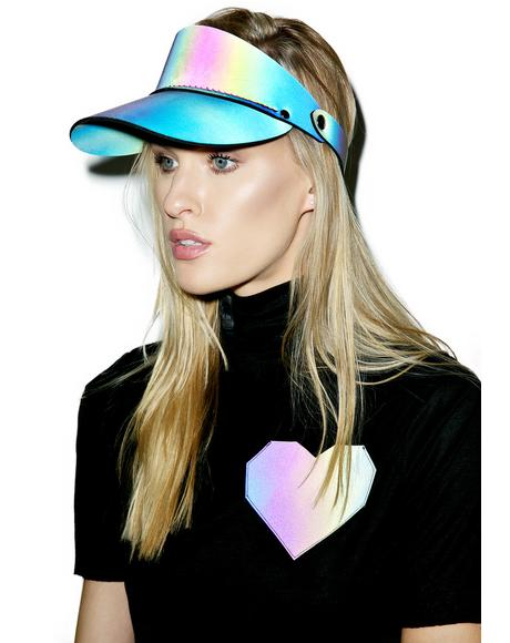 Rainbow Reflective Shade Visor