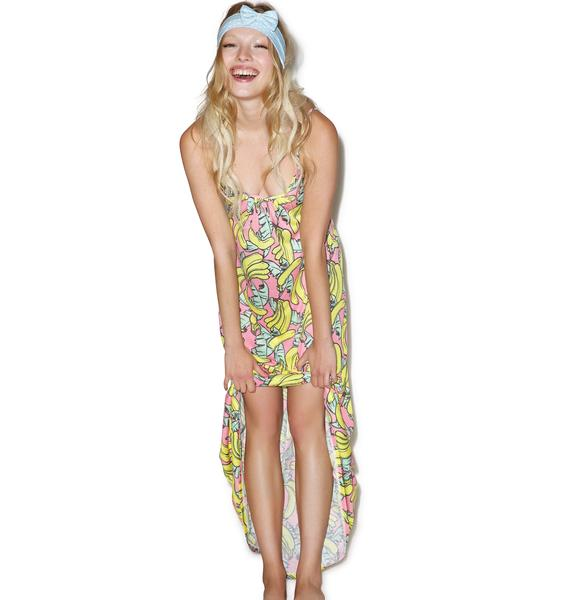 Wildfox Couture Banana Print Margarette Dress