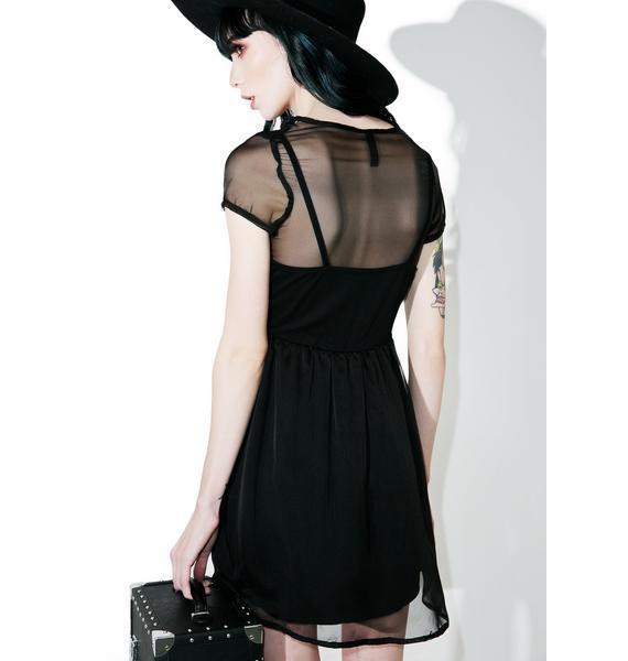 Disturbia Daria Sheer Tee Dress