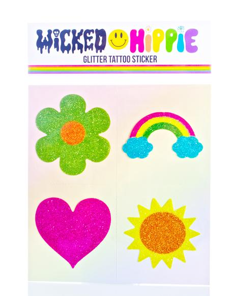 Warm Vibes Glitter Tattoo Stickers