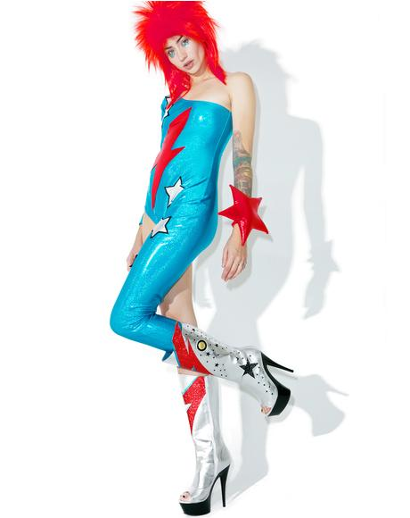 X Dolls Kill Ziggy Stardust Costume