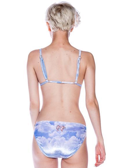 Cupid Cloudy Sky Bikini Brief