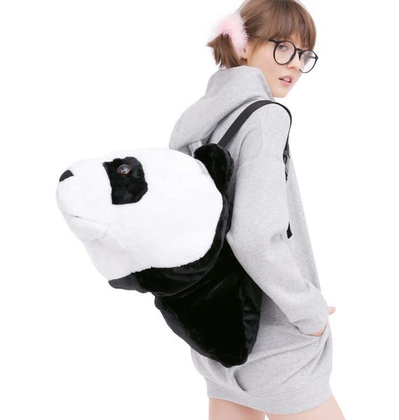 Super Sized Plush Panda Head Backpack