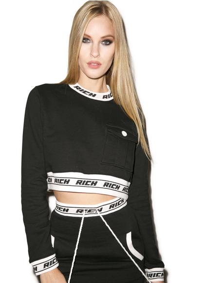 Rich Band Cropped Crew