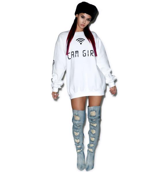 Demian Renucci Cam Girl Sweatshirt
