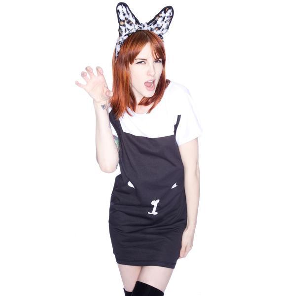 Lazy Oaf Black Cat Tee Dress