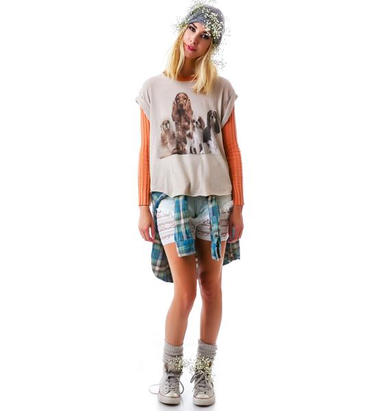 Wildfox Couture Beggars Eccentricity Jagged Edge Tee