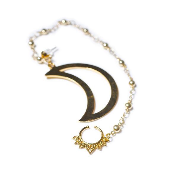 Vidakush Moon Nose Chain