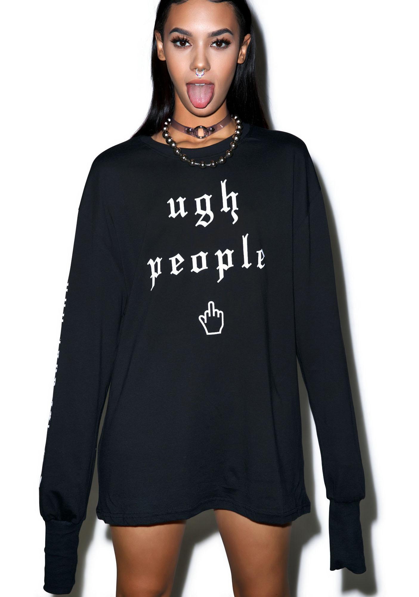 Demian Renucci Ugh People Long Sleeve Shirt