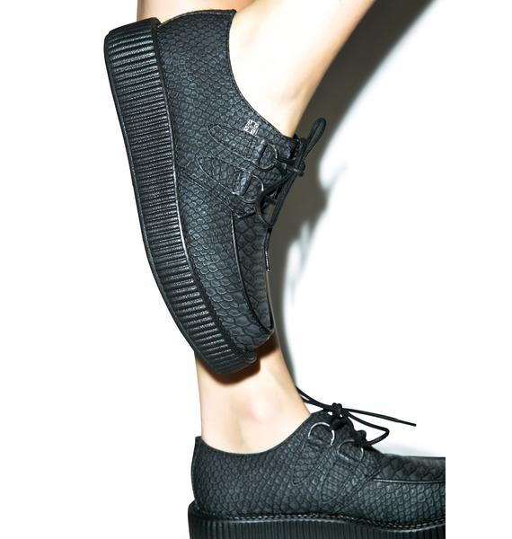 T.U.K. Dragon Scale Embossed Viva Low Creepers