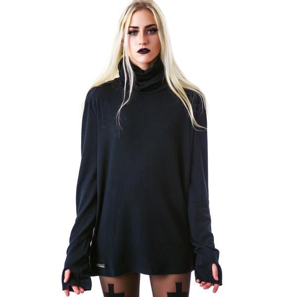 Steve's Black Turtleneck Sweater