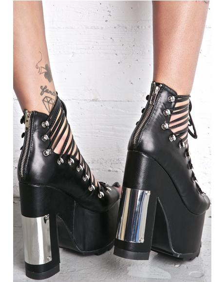 X Dolls Kill Heavy Metal Ballet Bae Platforms
