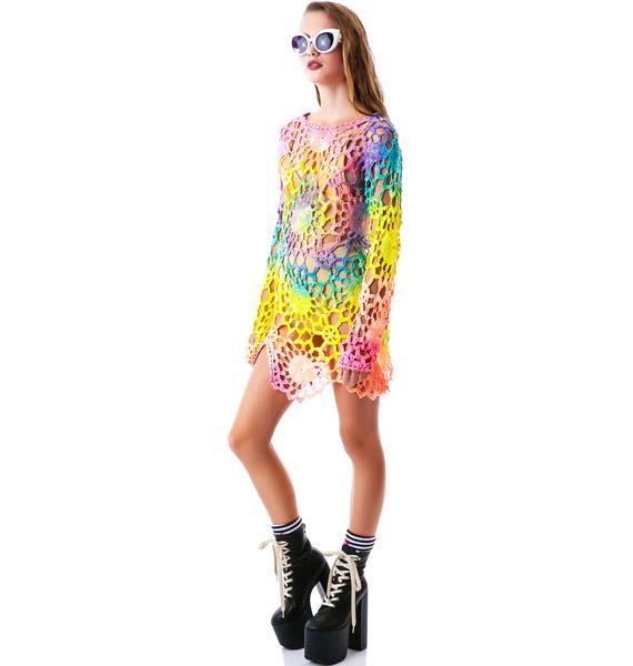 UNIF Tie Dye Astra Dress