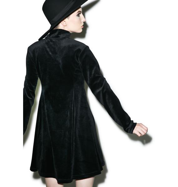 Killstar Pussycat Velvet Skater Dress