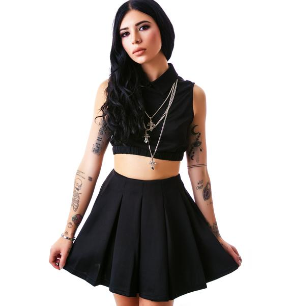 EZ Breezy Pleated Skater Skirt