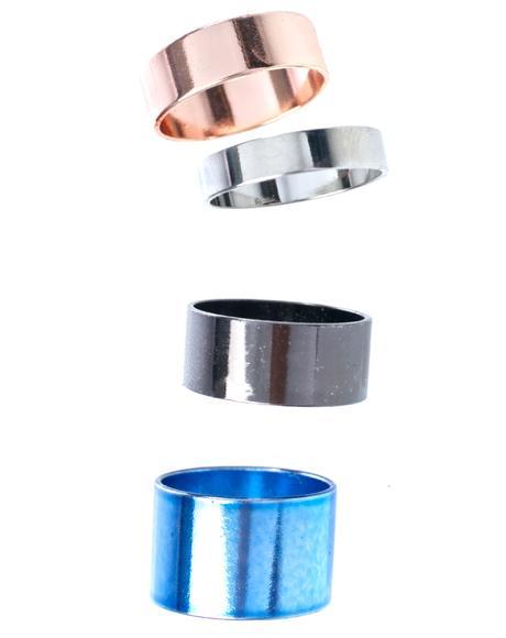 Precious Metals Midi Ring Set