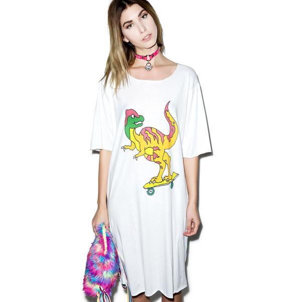 Y.R.U. Sk8-Rex Tee Dress