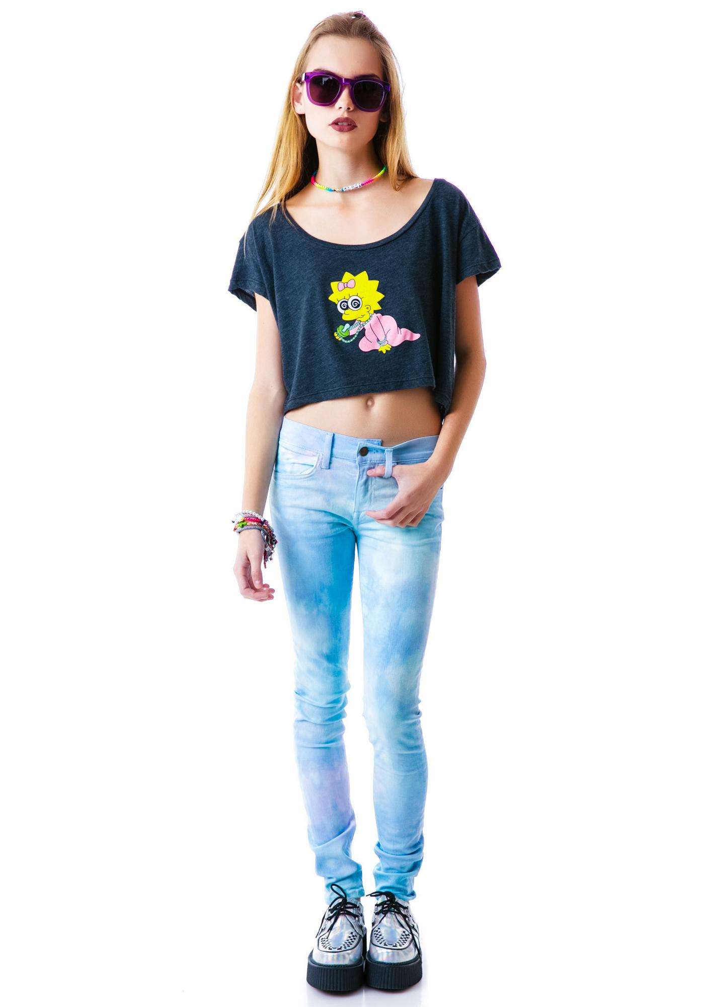 Petals and Peacocks Magg-E Cropped Tee