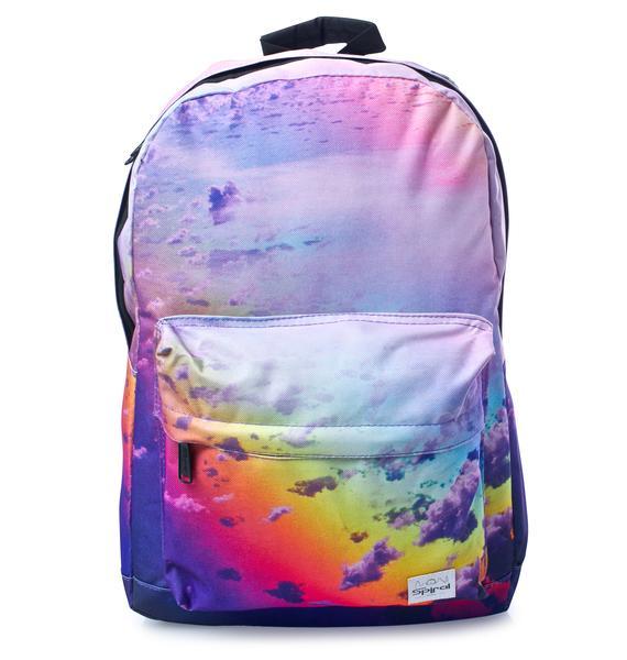 Spiral UK Rainbow Clouds OG Backpack