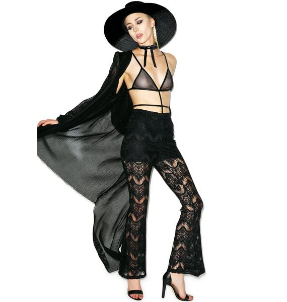 Glamorous Little Lace Baby Bell Bottoms