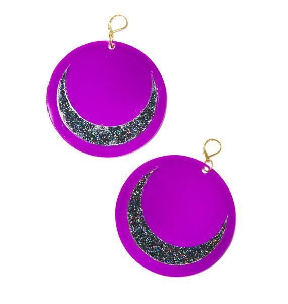 Marina Fini X Dolls Kill Luna Moon Earrings